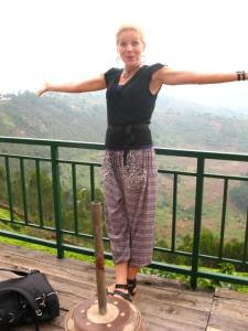 Me visiting a 1,000 hectare organic tea farm on a mountaintop on Rwanda, March 2015.